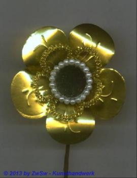 Metallfolienblume gold